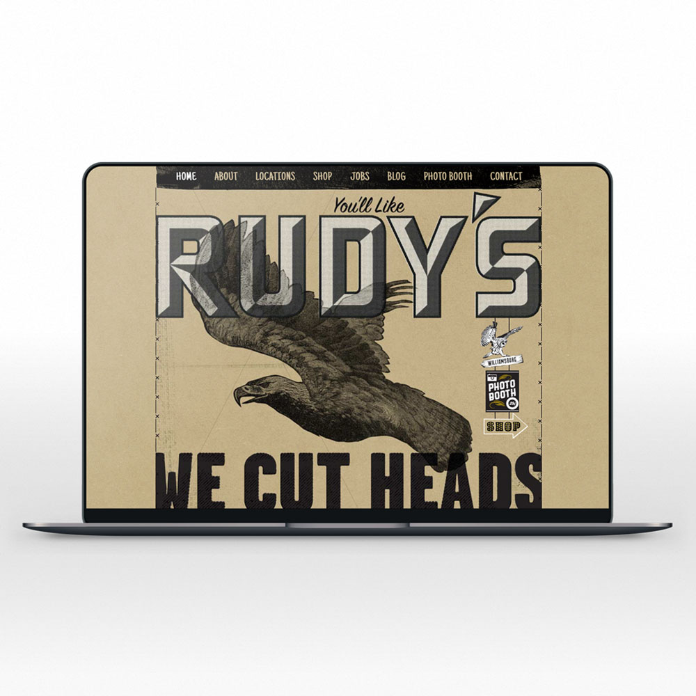 Rudy's Barbershop Seattle Graphic Design Web Design