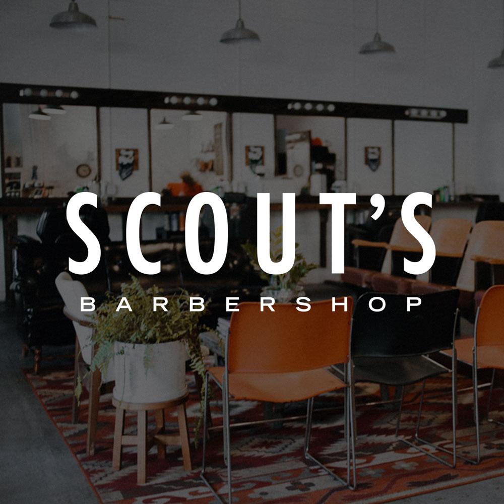 Scout's Barbershop Nashville Seattle Graphic Web Logo Design