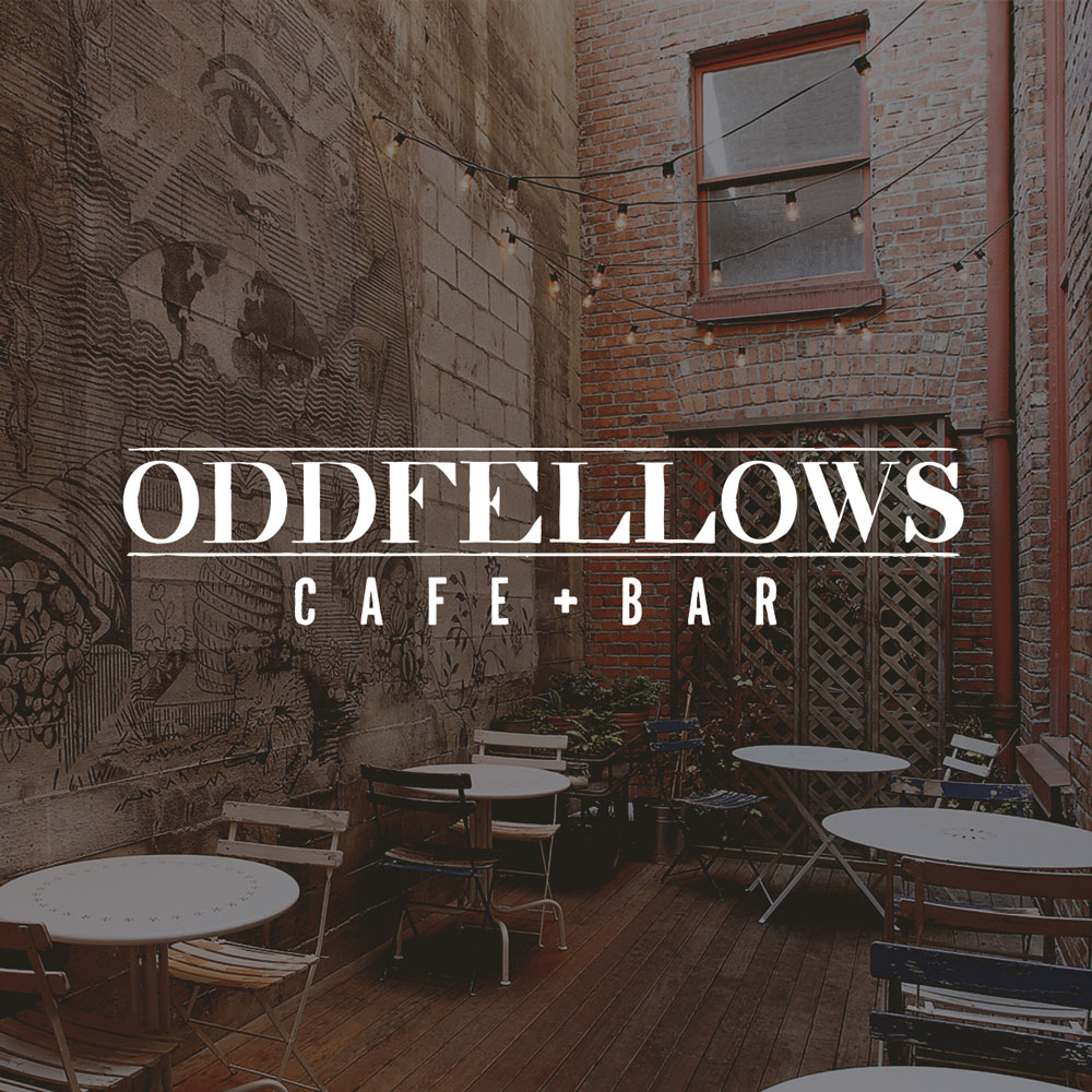 Oddfellows Cafe Logo Seattle Graphic Design Web Design